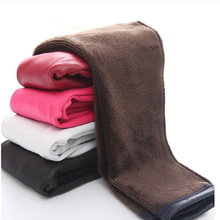 BIG SALE Girl Pu Leather Winter Legging  Baby Kid Children Warm Fleece Trousers  3-10 Years