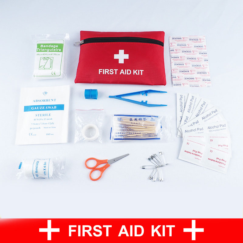 Outdoor Survival Camping Travel First Aid Kit Contains12 Kind First Aid Items Emergency Medical Box Portable Travel Medical Bag