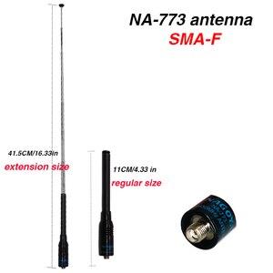 Flexible Nagoya NA-773 SMA Female VHF UHF Dual Band Walkie Talkie Antenna for Kenwood BaoFeng UV-5R UV-82 BF-888S UV 5R UV82