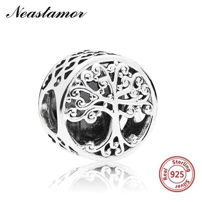 Полый Микки жизнь дерево подвеска в форме короны подходит Pandora браслет или ожерелье с шармами брелок ювелирные изделия для женщин мужчин решений - Цвет: A1448