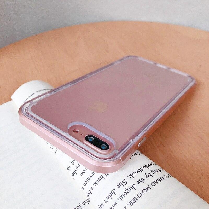 Двухслойный бампер ярких цветов, прозрачный чехол для iPhone 11 12 Pro Max 7 8 Plus SE 2020, противоударный мягкий чехол-накладка для iPhone X XS XR