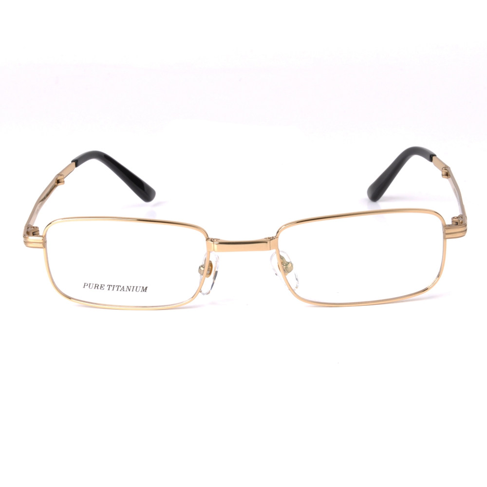 With Case And Cleaning Cloth 3 Colors 6090 Langford Foldable Eyewear Glasses Pure titanium 54mm Clear Lens For Men