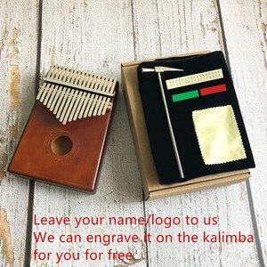 Image 3 - Новинка, калимба с 17 клавишами, пианино с большими пальцами из массива африканского дерева, Sanza Mbira Calimba, игры с гитарой, деревянные музыкальные инструменты