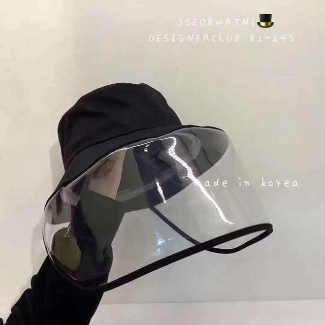Protective Face Shield Cover Hat Anti Spitting Saliva Drool Fisherman Cap Clear Facial Mask Splash Anti-Fog Anti-Oil Cap