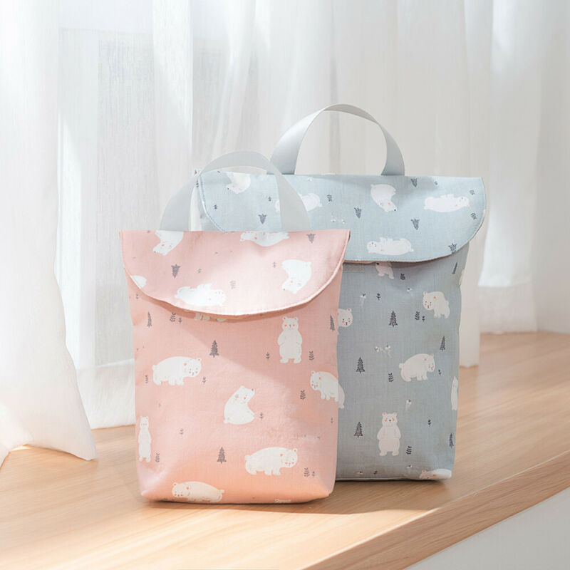 2020 Cute NewboornDiaper Bag Kid Mini Waterproof Wet Dry Bag Wet Bag For Baby Infant Cloth Diaper Nappy Pouch Reusable Outdoor