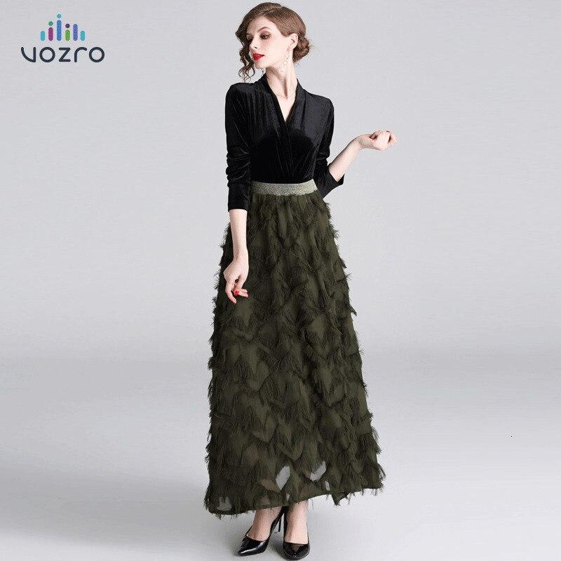 VOZRO hiver Maxi robe de soirée femmes plomb à manches longues Pleuche Joint fendu sera Longuette robe de soirée robes Vintage