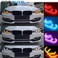 FORAUTO 4 قطعة M4 نمط سيارة عيون الملاك RGB متعددة الألوان SMD LED مصابيح لسيارة BMW E90 E92 E93 E60 F30 F35 E53 F10 X6 M3 M4