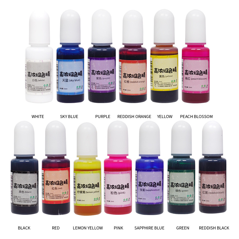 12 Pcs/set Mixed Color Resin Jewelry DIY Making Craft DIY Crystal Epoxy Pigment Set Crystal Epoxy Material Glue