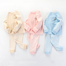 Baby Suit Children Long-sleeved Trousers Two-piece Quilted Warm Clothes Home Service Kids