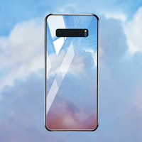 silicone case Tempered Glass Case For samsung galaxy S10 S9 S8 plus Cases Space Silicone Covers for samsung S10E note 8 back cover (3)