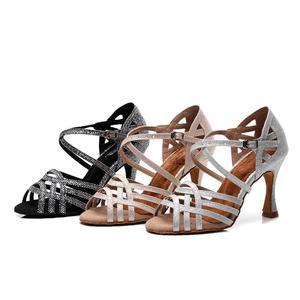 Женские бальные туфли для латиноамериканских танцев, черные танцевальные туфли для сальсы, танго, бальные туфли для выпускного вечера, свад...