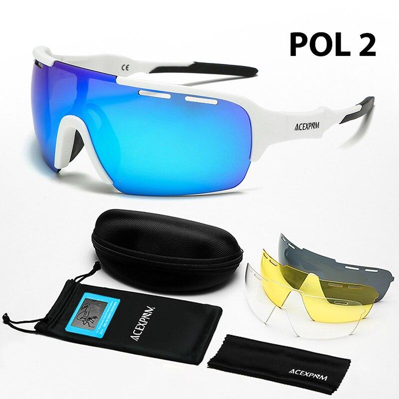 2020 Polarized 4 Lens Cycling Glasses Bicycle Cycling Sunglasses bicicleta Gafas ciclismo Bike Cycling Eyewear UV400