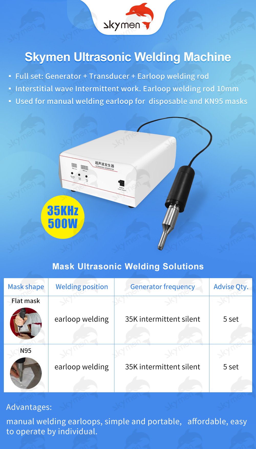 Ultrasonic Plastic Welding Machine With English Manual For Disposable And KN95 Masks 6