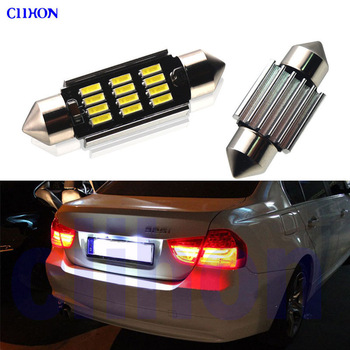 Perfect White Canbus Error Free LED bulb Exterior License Plate light Kit for BMW 3 Series E36 E46 E90 E91 E92 E93 (1990-2013) image