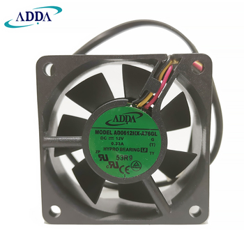 New Original For ADDA AD0612HX-A76GL DC 12V 0.23A 60x60x25MM 3 wire lead server inverter pc cpu case cooling fan new original for adda ad0612hx a76gl dc 12v 0 23a 60x60x25mm 3 wire lead server inverter pc cpu case cooling fan