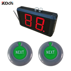 Ticket Counter Dispenser Take a Number System 2-digit Display Next Control Button Bell Wireless Number Waiting System