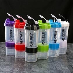 500ml Shaker sportowy butelka kreatywna odżywka białkowa butelka do mieszania Fitness Gym Shaker przenośne plastikowe Botella Mezclador Protein|Shakery|Dom i ogród -