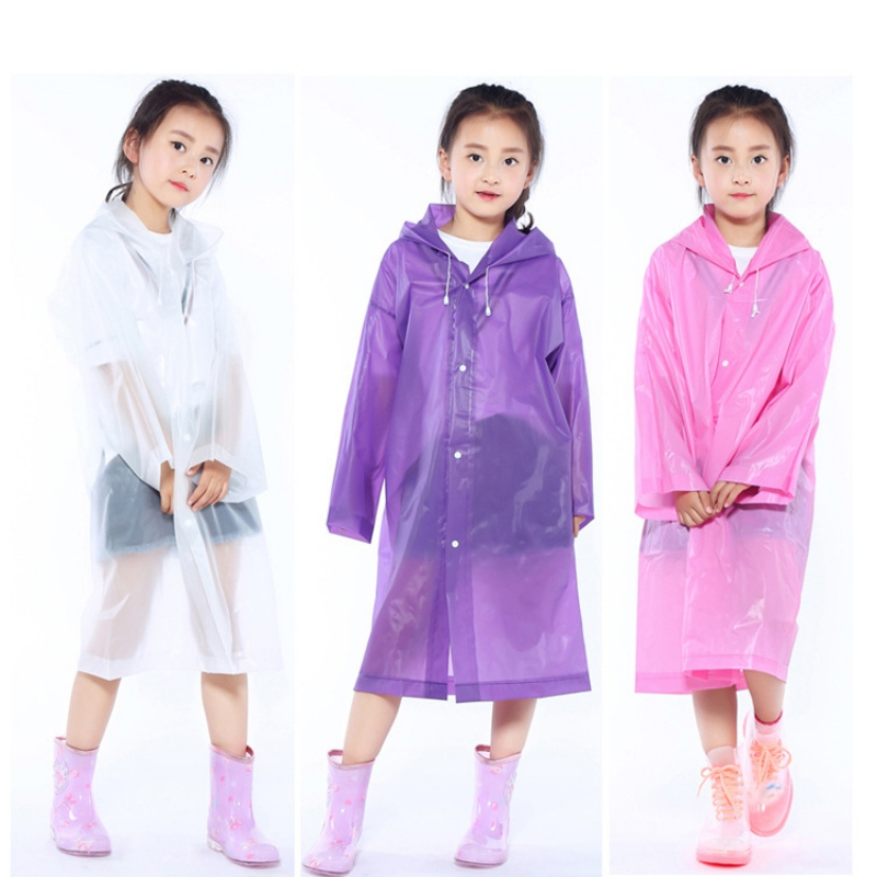 Kids Raincoats Transparent Frosted Raincoat Toddler Girl Boy Waterproof Hiking Outdoor Travel Raincoat Coat For Children