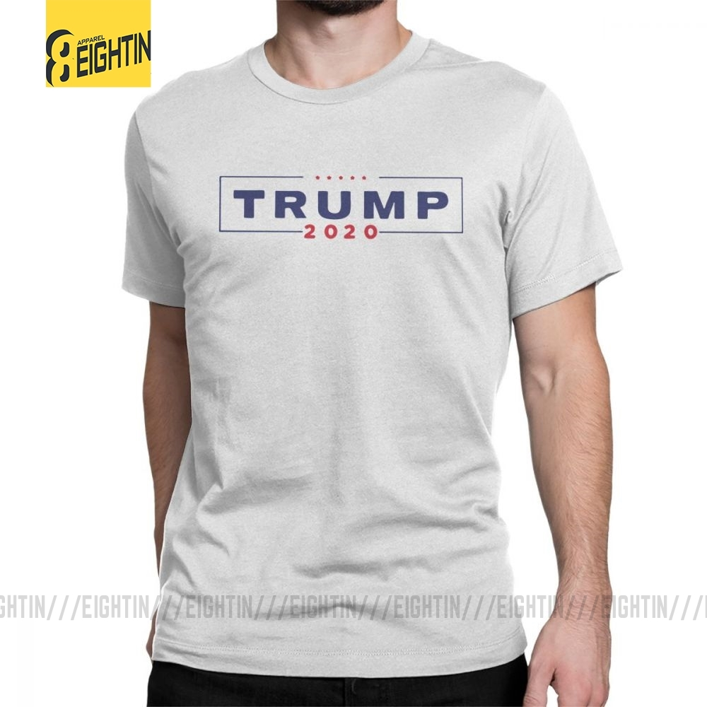 Trump 2020 2018 Fashion T Shirt Man's Short Sleeves Clothes Printing Tees Purified Cotton O Neck T-Shirts