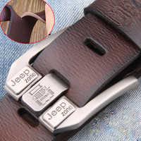 Men Genuine Leather Belt Pin Buckle Belts Luxury Brand Designer High Quality Waist Strap Male for Jeans Cintos Masculinos 2020