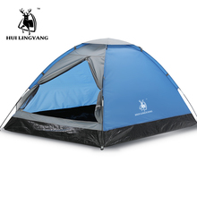 2 Person Camping Tents Waterproof Resistant Family Outdoor Fishing Hunting Party Camping Tent Ultrlight Beach Travel
