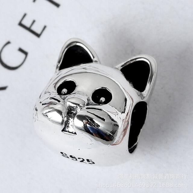 New theo bear pig animal kingdom cat dog unicorn Bead fit original Pandora charms silver 925 Bracelet for women fashion jewelry 2