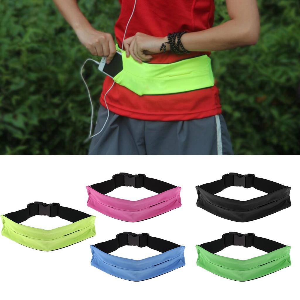 Adjustable Waist Running Belt Waist Pouch Bag for Runners Jogging Running Yoga Outdoor Hiking Sports