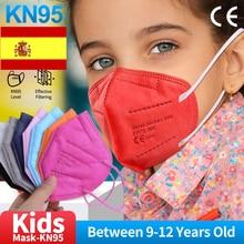 5-100Pcs Kids Mascarillas ffp2mask reusable 5 ply Filter Masks Children Protective Earloops Mask masques ffpp2 enfants ce