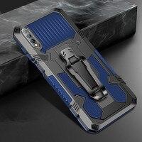 Funda de Metal a prueba de golpes para teléfono móvil, carcasa trasera magnética con soporte para Huawei Nova Y5 Y6 Y6S Y7 Y9 2 Pro Prime Lite P Smart Z 2018 2019