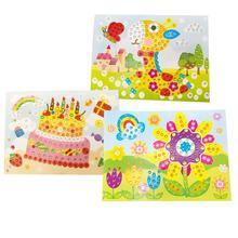 Toys Children Painting-Sticker Educational-Toy Puzzle Art-Craft Drawing Random-Style