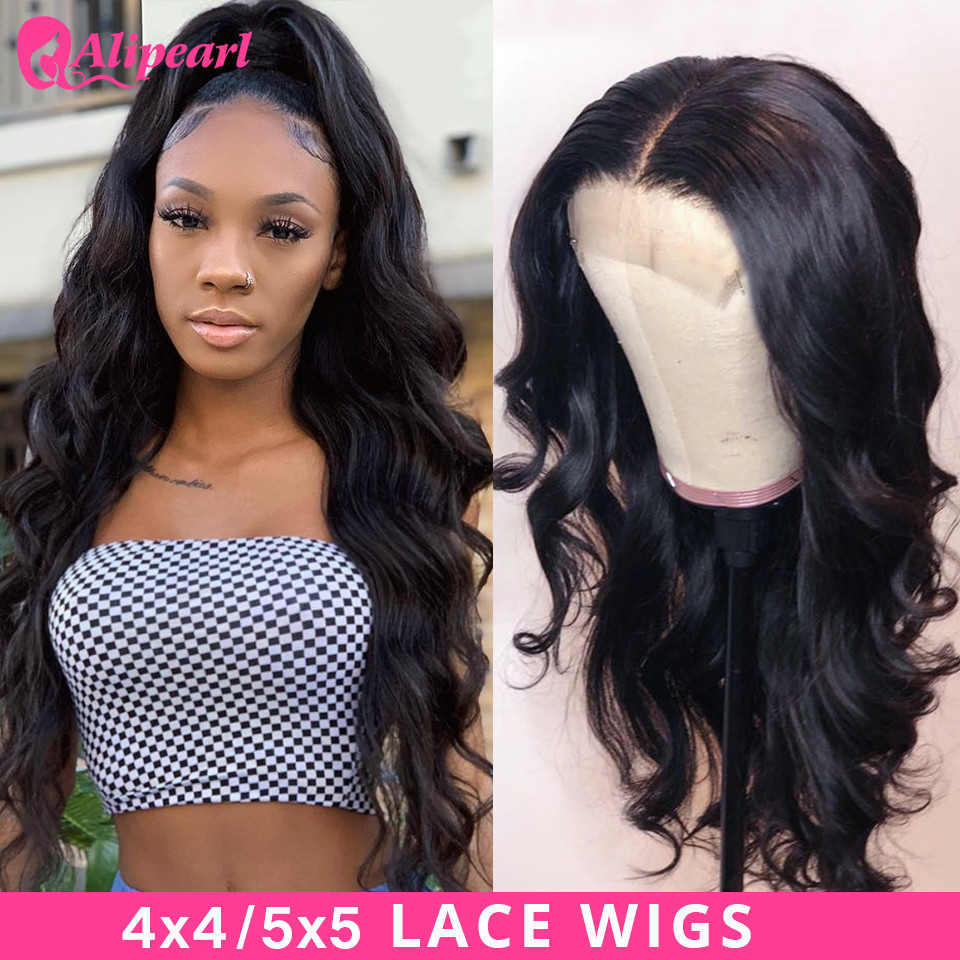 Perruque Lace Closure Wig Body Wave brésilienne-AliPearl Hair | Perruques cheveux naturels, 6x6, perruques Lace Wig 5x5, pour femmes noires, 150 180