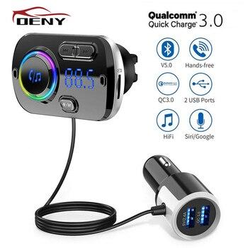 Car Bluetooth FM Transmitter FM Modulator for Auto Handsfree Car Radio Power Adapter mp3 Player Bluetooth Transmitter FM Audio