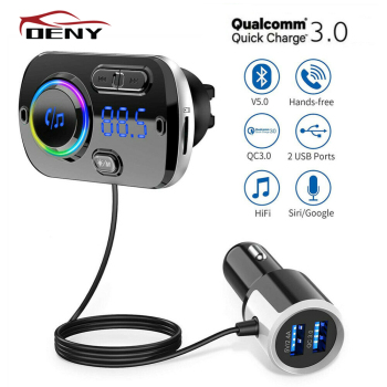 Car Bluetooth FM Transmitter Modulator for Auto Handsfree Radio Power Adapter mp3 Player Audio