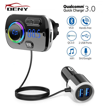 Car Bluetooth FM Transmitter FM Modulator for Auto Handsfree Car Radio Power Adapter mp3 Player Bluetooth Transmitter FM Audio