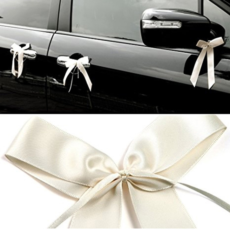 Ivory Wedding Car Decoration Pack Pull Bows Balloons And Ribbon