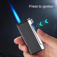 Новая фонарь жигалка для сигарет зажигалка сигар металлическая