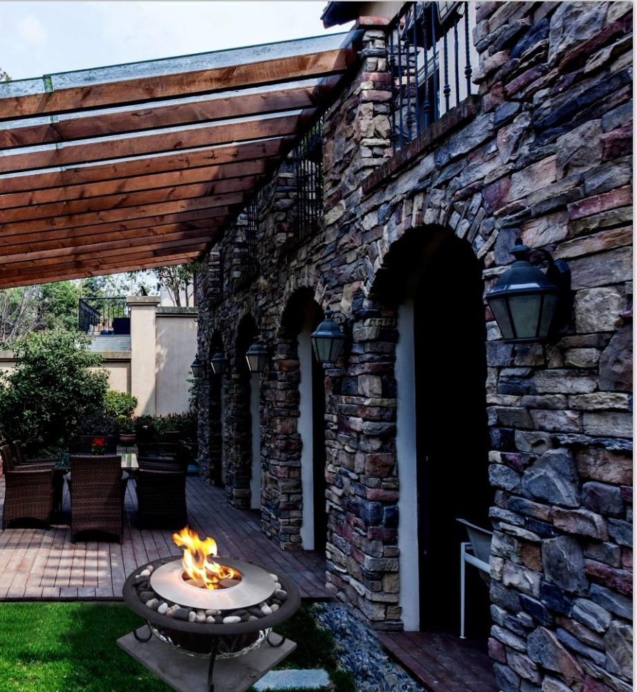 Hot Sale Garden Fireplace Bio Ethanol Burner Round