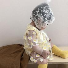 0-24m Baby Girl Clothes Lace Floral Sun Protection Clothing Thin Breathable Air