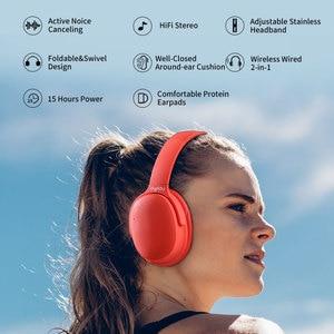 Image 2 - ANC Bluetooth kulaklık aktif gürültü önleyici mikrofonlu kulaklık ile kablosuz kulaklık kutusu Hifi Stereo