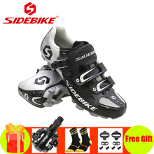SIDEBIKE cycling shoes mtb men mountain bike sneakers sapatilha ciclismo mtb pedals self-locking breathable Athletic bike shoes sidebike cycling shoes road men carbon sapatilha ciclismo mtb bike shoes zapatos bicicleta sneakers self locking white 2019 new
