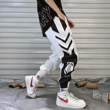 Harajuku Sweat pant Jogger Pants Hip Hip Pants Vintage Color Block Patchwork Streetwear Harem Pant(China)