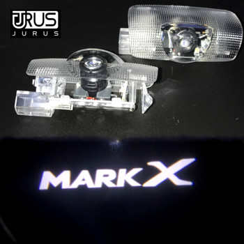 JURUS 2pcs Led Car Door Logo Laser Projector Light For Toyota Reiz Camry Mark X Lamp Accessories