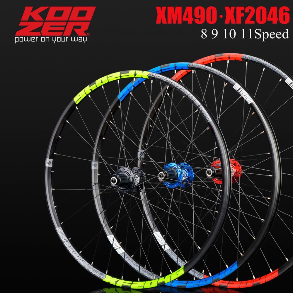 KOOZER XF2046 mountain bike wheelset with MTB rim, 26/27, 5, 29er inches, 72 rings, 4 bearings, through QR wheels, use on XM490(China)