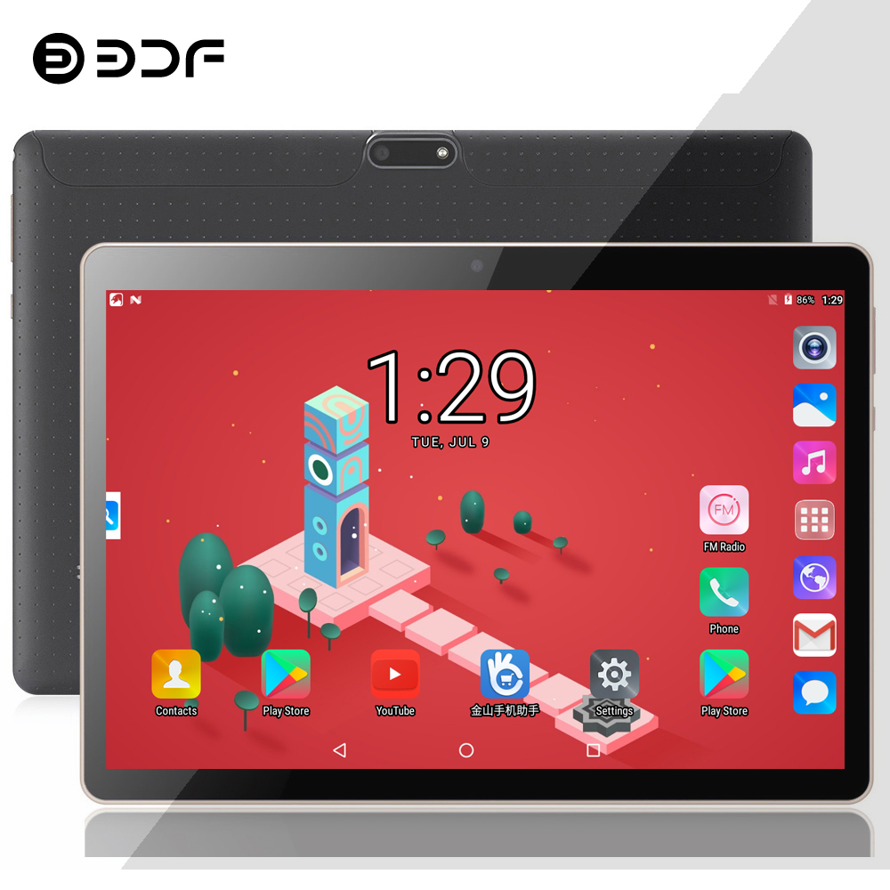 (Russian Spain USA Ship) BDF 10 Inch Dual 3G Phone Call Tablet Pc Android 7.0 Octa Core 4GB+64GB WiFi Bluetooth IPS Tablets 10.1