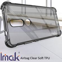Imak airbag caso para nokia 2.4 resistência à queda tpu macio silicone claro transparente capa