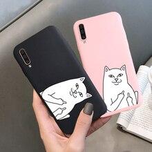 Soft Case For Samsung A50 A30 A10 Case Silicone A40 A60 A70 A6 A8 Plus A9 2018 A20e A2 Core A750 A520 A530 A720 Candy Cat Cover все цены