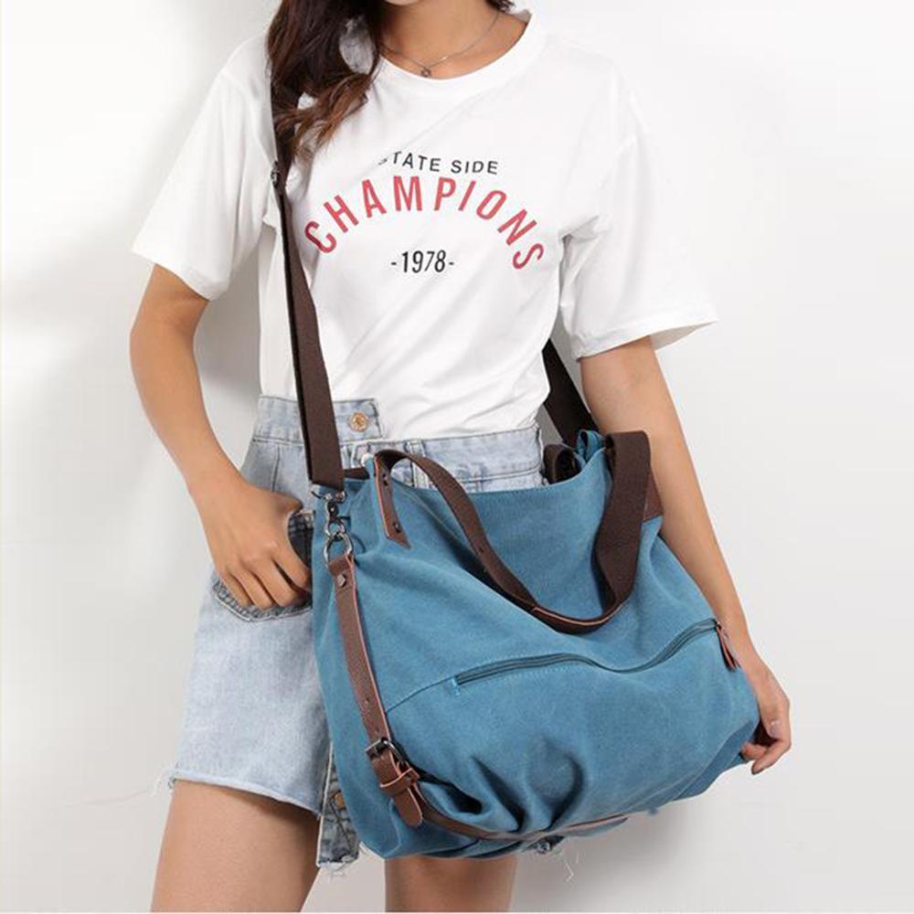 Image 4 - Crossbody Bags for Women 2019 Canvas Tote Bag womens Handbags Ladies cotton Hand Bag Bolsos Mujer Lady Shoulder BagTop-Handle Bags   -
