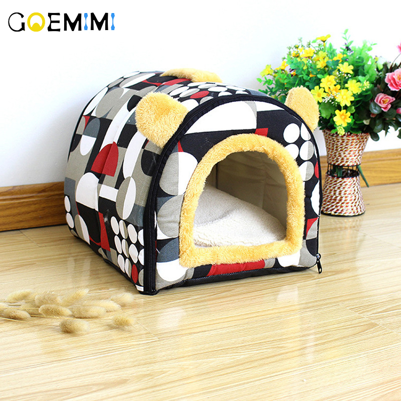 Soft Warm Pet Dog Bed House for Small Dogs Winter Nest Cat Puppy Kennel Sofa Sleeping Bag