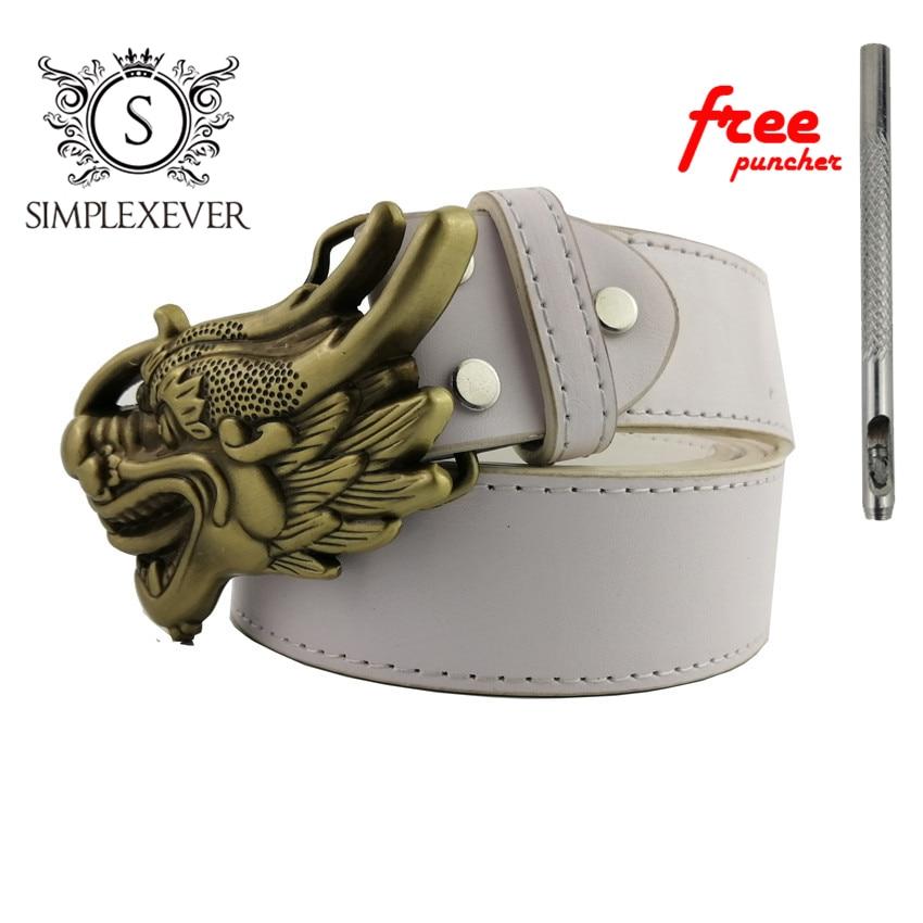 Cowboy Good Plating Metal Brass Dragon Belt Buckle Mens Animal Jeans Accessories Belt Buckles Suit 4cm Width Belt Novelty Gifts