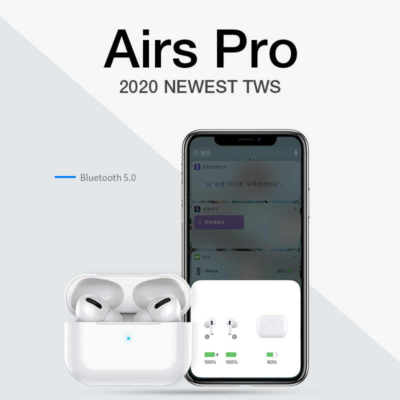 Airpodding Pro 3 Wireless Headphone Bluetooth Earphone Headset Smart Touch Aire Earbud dengan Case untuk iPhone Android Pod Pro 3